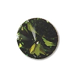 swarovski rivoli chaton 14 mm - olivine foiled