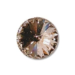 swarovski rivoli chaton 14 mm - light peach foiled