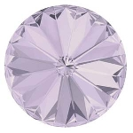 swarovski rivoli chaton 14 mm - smokey mauve foiled