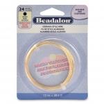 beadalon german style wire round 24 gauge - gold