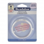 beadalon german style wire round 24 gauge - zilver plated