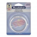 beadalon german style wire round 24 gauge - silver plated