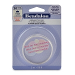 beadalon german style wire half round 20 gauge - zilver