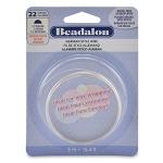 beadalon german style wire half round 22 gauge - zilver