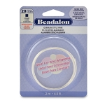 beadalon german style wire square 20 gauge - zilver