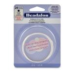 beadalon german style wire square 20 gauge - silver