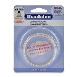 beadalon german style wire square 22 gauge - zilver