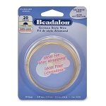 beadalon german style wire half round 22 gauge - brass