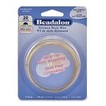 beadalon german style wire half round 20 gauge - brass