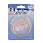 beadalon german style wire square 20 gauge - brass