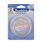 beadalon german style wire square 20 gauge - brass