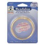 beadalon german style wire square 22 gauge - brass