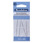 beadalon big eye stainless steel beading needle - 5.7 cm 4 pieces