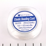 Miyuki elastic cord - 0.4 mm white