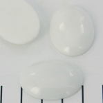 cabochon 30 x 22 mm - witte agaat