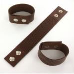 armband met gaatjes - bruin medium