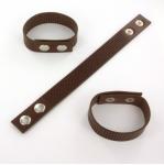 armband met gaatjes - bruin small