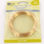 artistic wire 12 gauge - silver plated gold color
