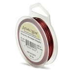 artistic wire 24 gauge - burgundy