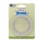 artistic wire braid 14 gauge - tarnish resistant silver