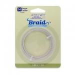 artistic wire braid 14 gauge - tarnish resistant silver