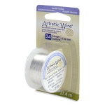 artistic wire 34 gauge - tarnish resistant silver