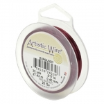 artistic wire 18 gauge - burgundy