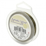 artistic wire 22 gauge - antique brass