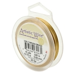 artistic wire 24 gauge - non-tarnish brass