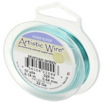 artistic wire 22 gauge - seafoam green