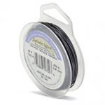 artistic wire 18 gauge - silver plated hematite