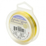 artistic wire 18 gauge - silver plated lemon neon geel