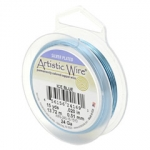 artistic wire 18 gauge - silver flated ice blue