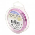 artistic wire 22 gauge 0.64 mm - silver plated rose