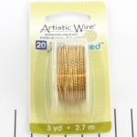 artistic wire twisted 20 gauge - non-tarnish brass