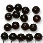 Basic bead round 10 mm - dark red garnet
