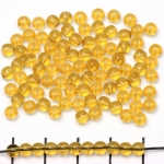 Basic bead round 4mm - light brown topaaz