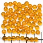 Basic bead round 6mm - light brown topaaz
