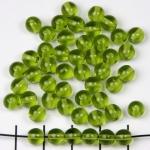 basiskraal rond 6 mm - lichtgroen olivine