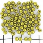 basiskraal rond 4 mm - saturated metallic meadowlark
