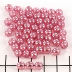 basiskraal rond 6 mm - transparent pearl lavender