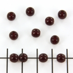 Basic bead round 6 mm - red transparant