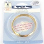 beadalon german style wire square 18 gauge - goud
