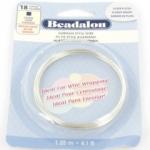 beadalon german style wire square 18 gauge - silver