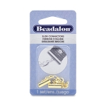 Beadalon slide connector - goud 13 mm