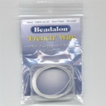 beadalon french wire - 0.8 mm silver plated