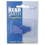 needle threader with cutte - silver