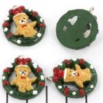 kerstbedel kerstbeer krans - 25 mm