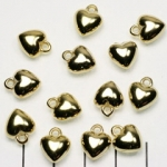 heart - gold 11 mm