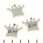 bedel kroontje zilver - meisje